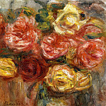 Bouquet of Roses in a Vase - 1900, Pierre-Auguste Renoir