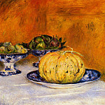 Still Life with Melon - 1882, Pierre-Auguste Renoir