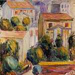House at Cagnes, Pierre-Auguste Renoir