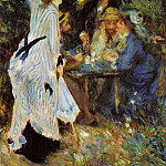 Under the Arbor at the Moulin de la Galette - 1876, Pierre-Auguste Renoir