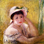 Pierre-Auguste Renoir - Woman with a Straw Hat - 1880