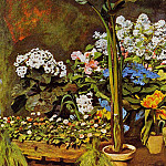 Arum and Conservatory Plants – 1864, Pierre-Auguste Renoir