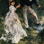 The Promenade - 1870, Pierre-Auguste Renoir