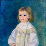 Child in a White Dress - 1883, Pierre-Auguste Renoir