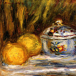 Sugar Bowl and Lemons - 1915, Pierre-Auguste Renoir