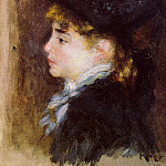 Portrait of Margot - 1876 - 1877, Pierre-Auguste Renoir