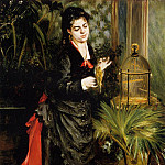 Woman with a Parrot - 1871, Pierre-Auguste Renoir