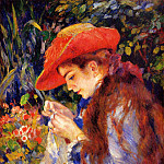 Pierre-Auguste Renoir - Mademoiselle Marie-Therese Durand-Ruel Sewing - 1882