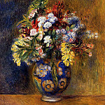 Пьер Огюст Ренуар - Flowers in a Vase - 1878
