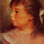 Portrait of a Girl - 1879 - 1880, Pierre-Auguste Renoir