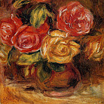 Пьер Огюст Ренуар - Roses in a Vase - 1895