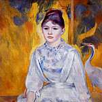 Young Woman with Crane - 1886, Pierre-Auguste Renoir