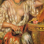 Пьер Огюст Ренуар - Gabrielle Wearing Jewelry - 1910