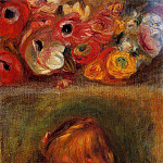 Portrait of Coco and Flowers - 1905, Pierre-Auguste Renoir