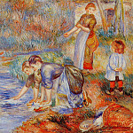 Laundresses - 1888, Pierre-Auguste Renoir
