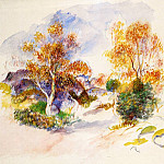 Landscape with Trees - ок 1886, Pierre-Auguste Renoir