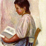 Young Girl Reading - 1904, Pierre-Auguste Renoir