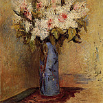 Vase of Lilacs and Roses - 1870, Pierre-Auguste Renoir