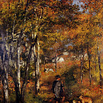 The Painter Jules Le Coeur Walking His Dogs in the Forest of Fontainebleau - 1866, Pierre-Auguste Renoir