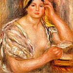 Пьер Огюст Ренуар - Woman with a Yellow Turban - 1917