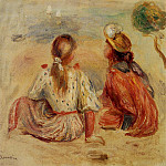 Young Girls on the Beach - 1898, Pierre-Auguste Renoir