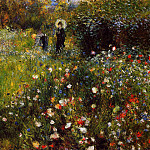 Pierre-Auguste Renoir - Summer Landscape (also known as Woman with a Parasol in a Garden) - 1873