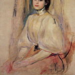 Seated Young Woman - 1890, Pierre-Auguste Renoir