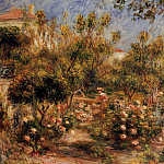 Young Woman in a Garden - Cagnes - 1903-1905, Pierre-Auguste Renoir
