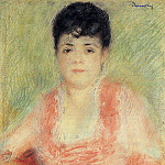 Pierre-Auguste Renoir - Portrait in a Pink Dress - 1880