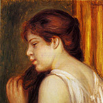 Young Girl Combing Her Hair – 1891 – 1892, Pierre-Auguste Renoir