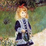 Girl with a Watering Can - 1876, Pierre-Auguste Renoir