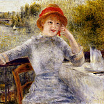 Alphonsine Fournaise on the Isle of Chatou - 1879, Pierre-Auguste Renoir