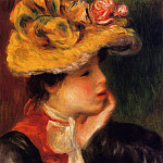 Head of a Young Woman - 1894, Pierre-Auguste Renoir