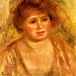 Womans Head - 1919, Pierre-Auguste Renoir