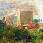 Пьер Огюст Ренуар - View from Renoirs Garden in Montmartre