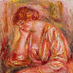 Woman Leaning on Her Elbow - 1918, Pierre-Auguste Renoir
