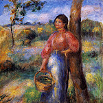 The Shepherdess - 1902, Pierre-Auguste Renoir