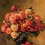 Bouquet of Roses - около 1890-1900, Pierre-Auguste Renoir