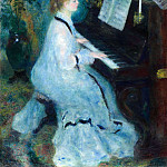 Young Woman at the Piano - 1876, Pierre-Auguste Renoir