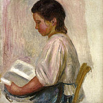 Пьер Огюст Ренуар - Young Girl Reading - 1904