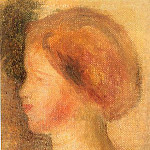 Portrait of a Young Girl - 1895, Pierre-Auguste Renoir