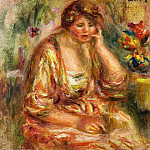 Andree in a Pink Dress - 1917, Pierre-Auguste Renoir