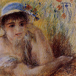 Woman in a Straw Hat – 1880, Pierre-Auguste Renoir