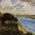 Barges on the Seine – 1870, Pierre-Auguste Renoir