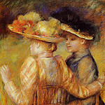 Two Women in a Garden – 1895, Pierre-Auguste Renoir