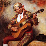 The Spanish Guitarist - 1897, Pierre-Auguste Renoir