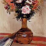 Пьер Огюст Ренуар - Roses in a Vase - 1872