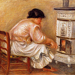 Пьер Огюст Ренуар - Woman Stoking a Stove - 1912