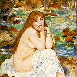 Seated Bather - 1883 -1884, Pierre-Auguste Renoir