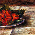 Still Life with Strawberries - 1880, Pierre-Auguste Renoir